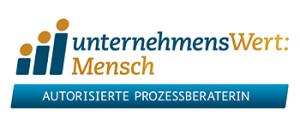 Logo unternehmensWert: Mensch Autorisierte Prozessberaterin